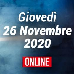 Giovedì 26 Novembre 2020